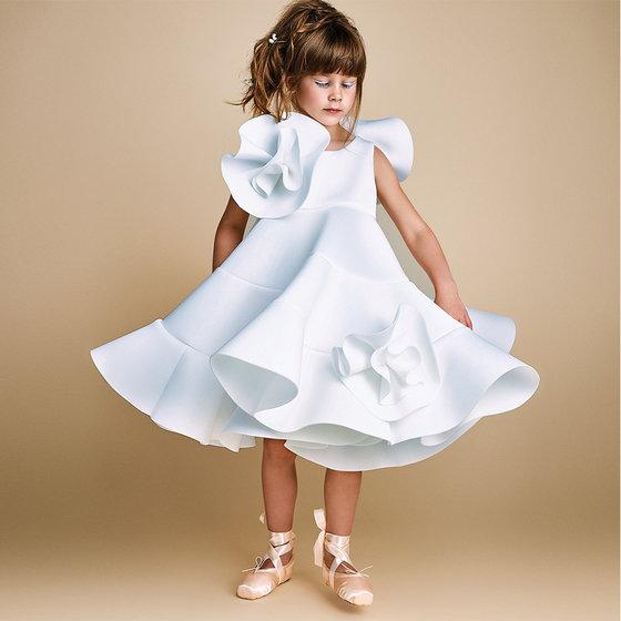 Doodle Story: Bonny Dress in White