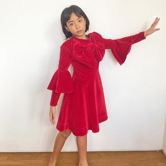 Daughter of the Goddess: Melissa Dress in Red Velvet