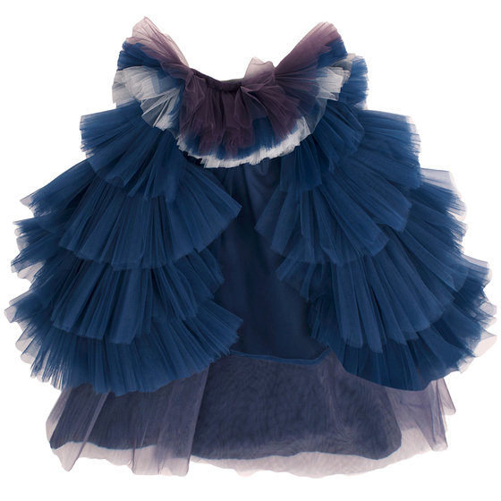 """Girls Two Pieces - Mess Overlay """"Kiss"""" Dress"""