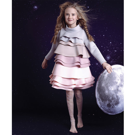 Layers of The Moon Dress