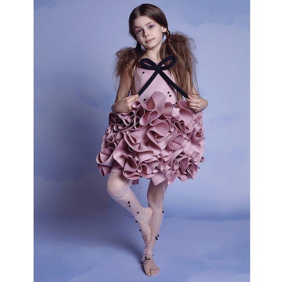 Mademoiselle Dress in Dusty Pink