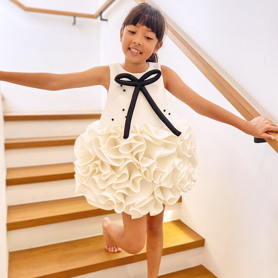 Mademoiselle Dress in White