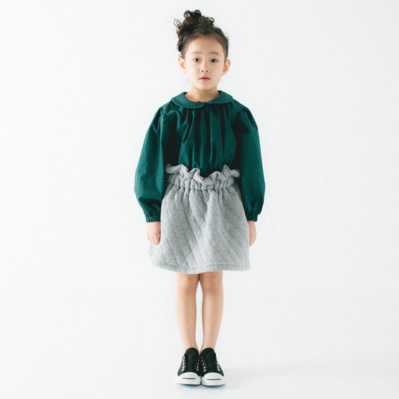 New Season: Light Grey Cotton Skirt