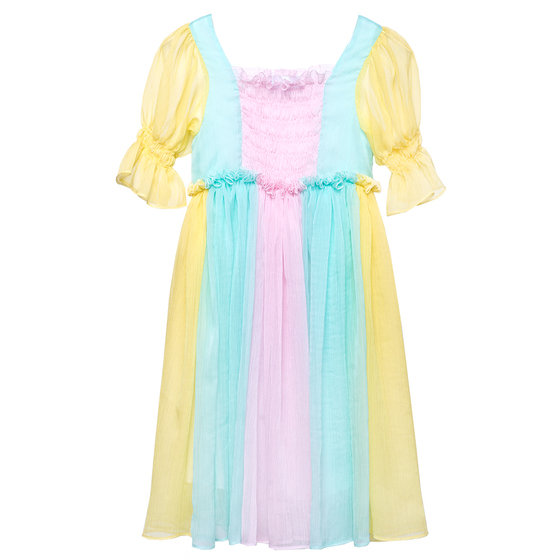 Multi-Color Chiffon Queen Dress Iris