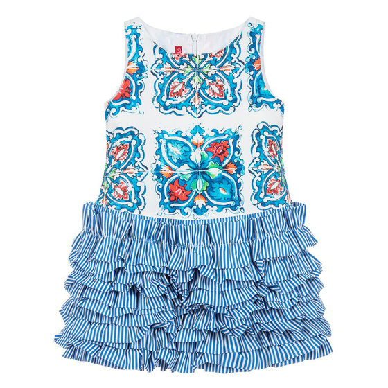 "Blue Printed ""Ainhoa"" Dress"