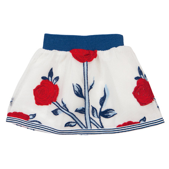 Erika Floral Embroidered Skirt