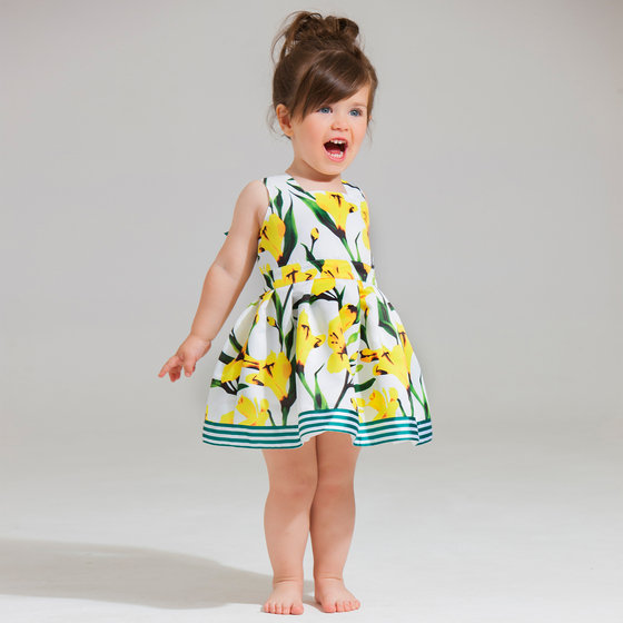 Greta Yellow Floral Printed Dress