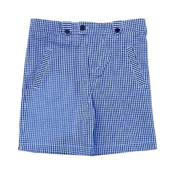 Blue Gingham Shorts