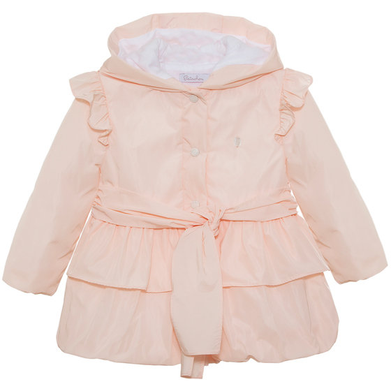 Pale Pink Belted Coat