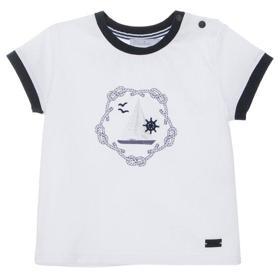 White & Navy T-shirt
