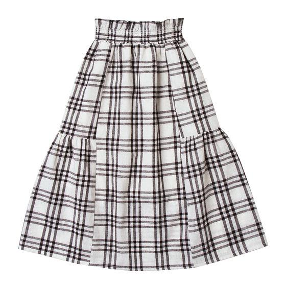 Check Janise Long Skirt