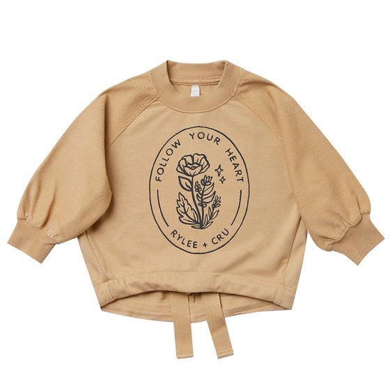 New Season: Follow Your Heart Cinched Sweatshirt