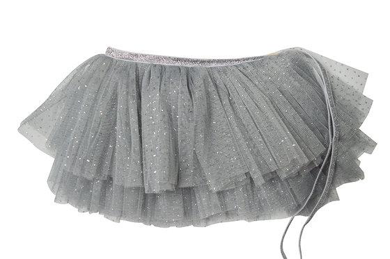 Silver Glinda Mini Wrap Skirt