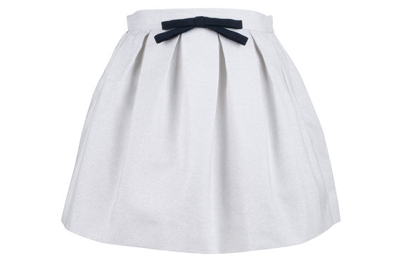 Silver Rain Pleated Skirt
