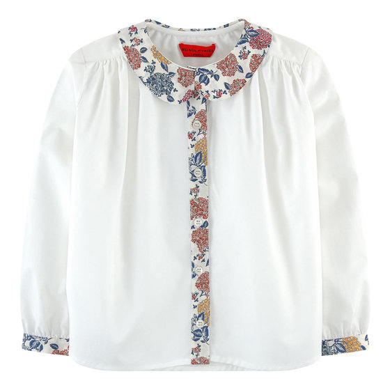 White Blouse with a Peter Pan Collar