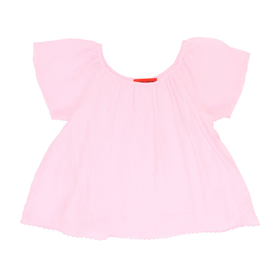 Girls Light Pink Silk Blouse