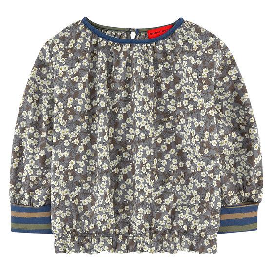 Khaki liberty print blouse