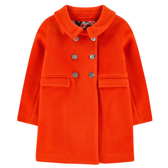 Orange Wool Coat