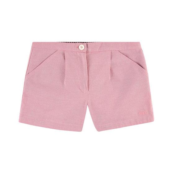 Pink Chambray Shorts