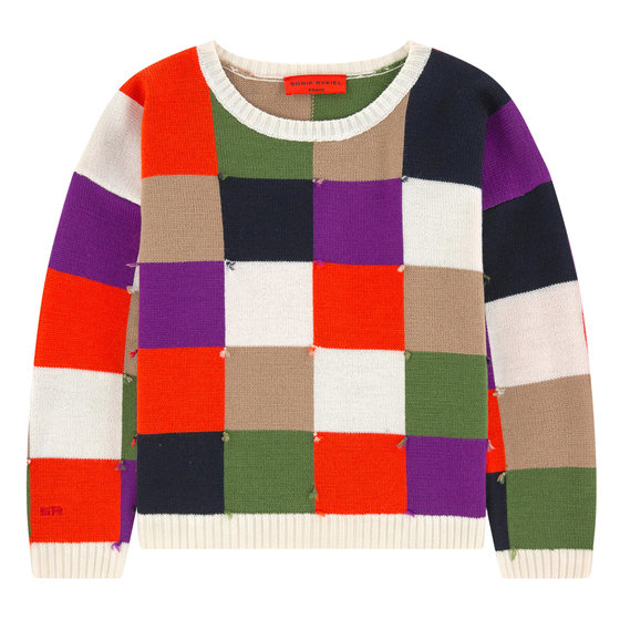 Multi Colour Checkered Sweater