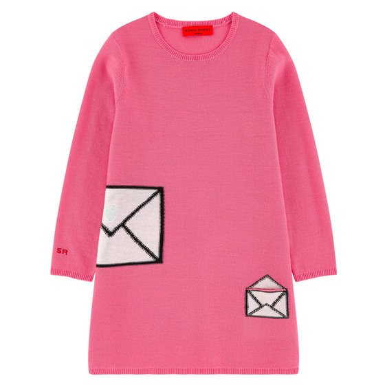 Pink Knit Wool Dress