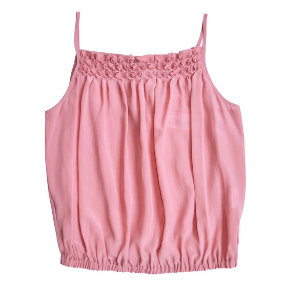 Silk dusty pink tank top