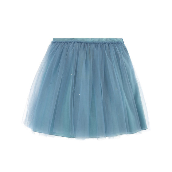 Tulle skirt with rhinestones