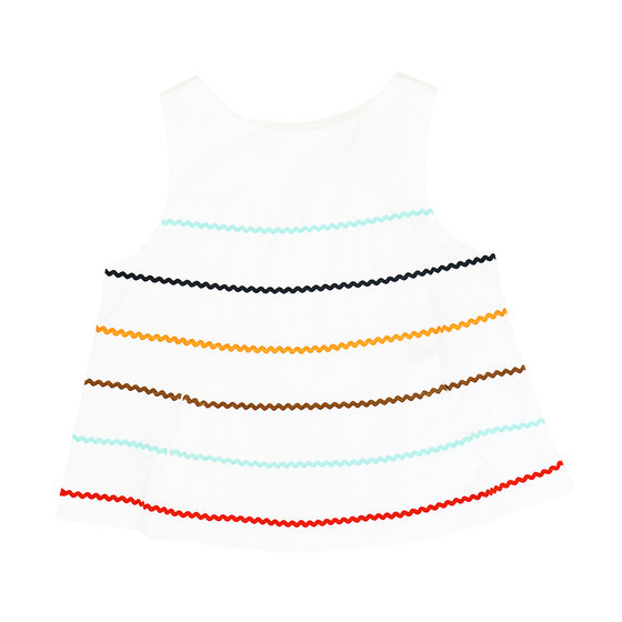 Capsule collection: white striped blouse