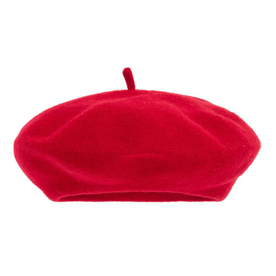 Girls Red Wool Beret