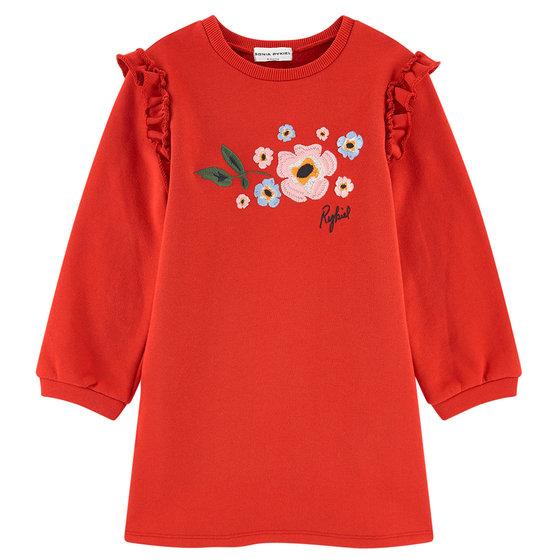 """Embroidered Sweatshirt """"Blaven"""" Dress"""
