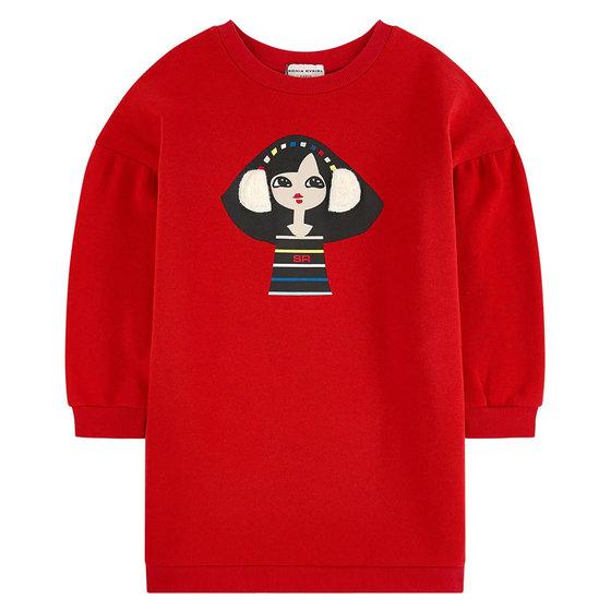 Girls Printed Sweatshirt Dilia Dress