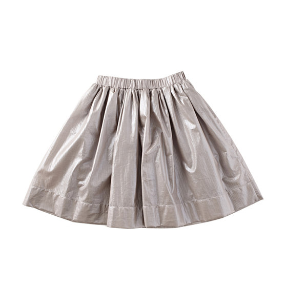 Metallic Grey Skirt