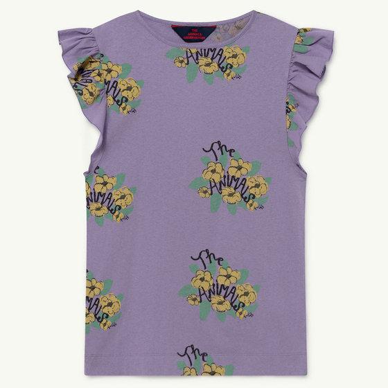 Purple Flowers Fly Dress