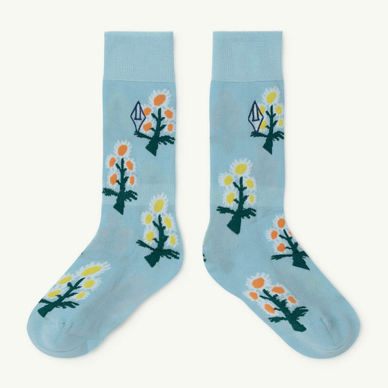 Soft Blue Logo Hen Socks
