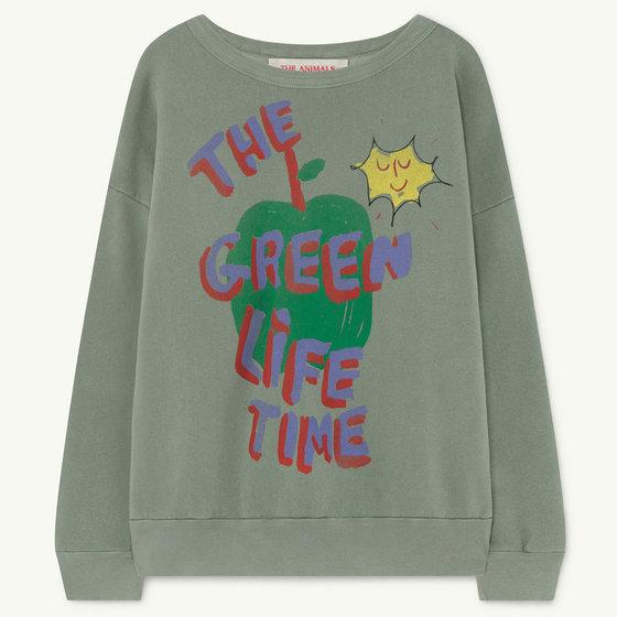 Soft Green Apple Big Bear Sweatshirt