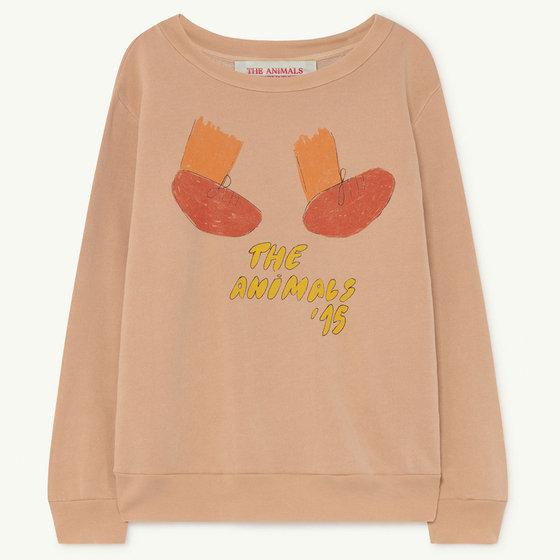 Soft Pink Feet Bear Sweatshirt