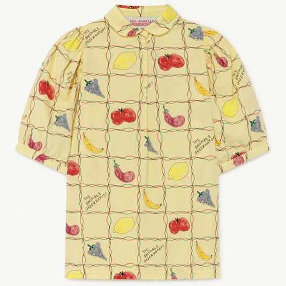 Soft Yellow Fruit Mouse Dress