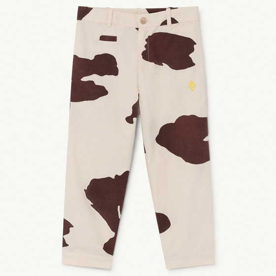 White Cow Camel Trousers