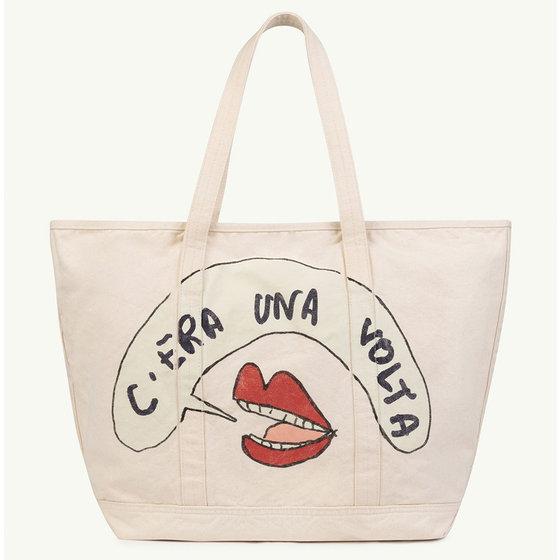 White Mouth Tote Bag