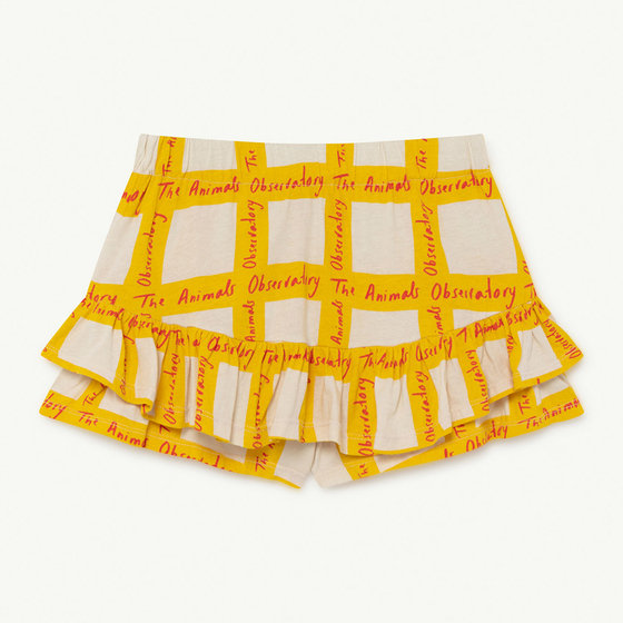 White Squares Kiwi Skirt