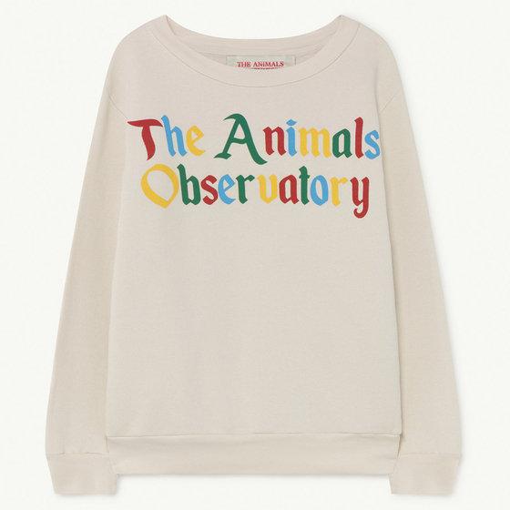 White The Animals Bear Sweatshirt