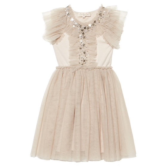 Sun Cap Sleeves Tutu Dress