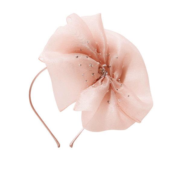Crystal Bow Headband in Ballet Slipper