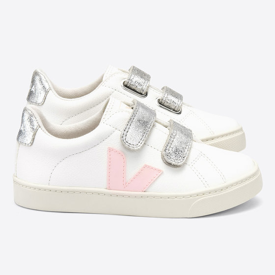 Velcro White Petale Silver