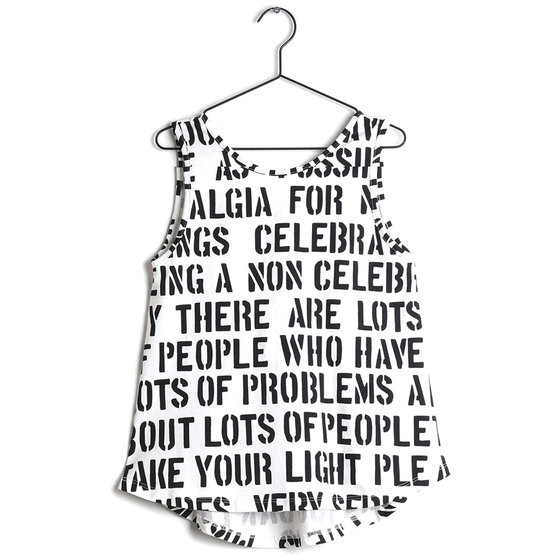 Alphabet Soup Print Julieta Top