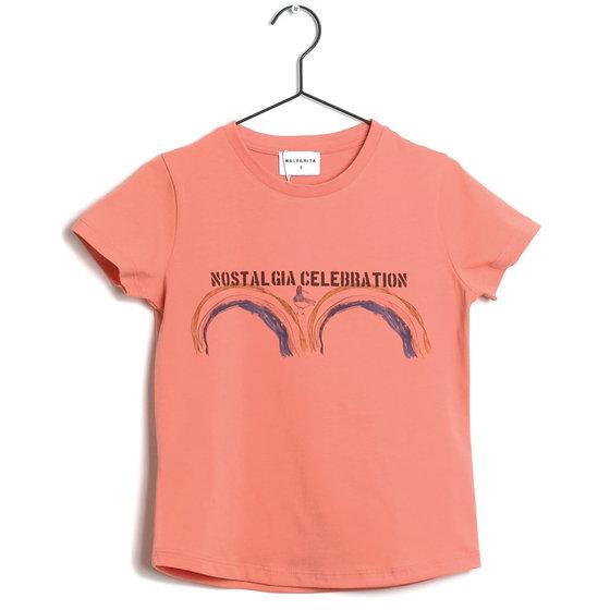 """Orange Printed """"Sebastiao"""" Tee"""