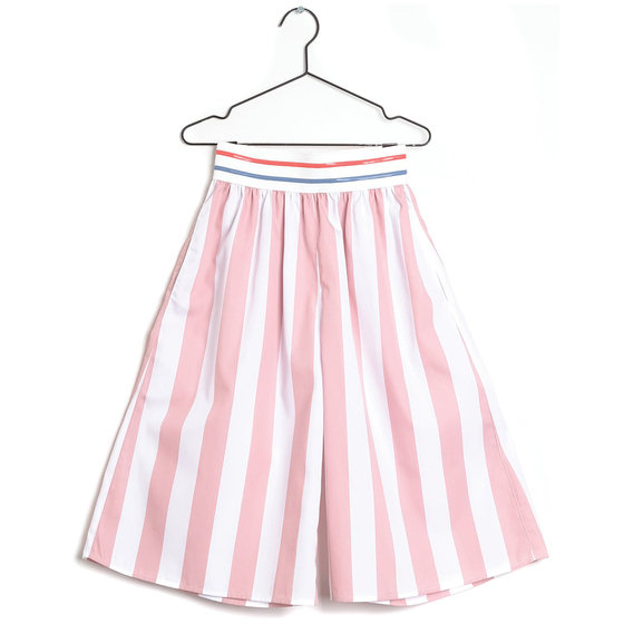 "Pink Stripe ""Elsa"" Culottes"