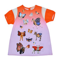Red Animals Print Cotton Dress