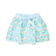 Girl's skirt sequin light blue