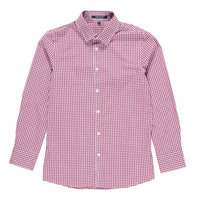 Boys Checked Print Button Down Shirt